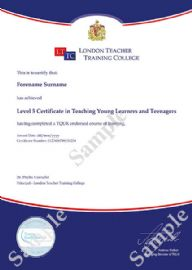 Certificate in Teaching English to Young Learners and Teenagers